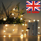 20/30/50 Warm White LED Battery Star Wire Fairy String Lights Party Room Decor