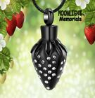 New Strawberry Crystal Cremation Urn Keepsake Ashes Memorial Necklace