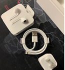 For Apple iPhone Charger Cable Original OEM Earbuds X XR 8 7 6 11 USB Lightning