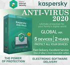 KASPERSKY ANTI - VIRUS 2020 - 2 Year 1/3/5 Device GLOBAL KEY