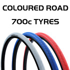 700 x 28C Vandorm Road Route Fixie Track Road Bike Coloured Tyre 700c