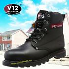 V1237 BOULDER BOOTS WORK SAFETY STEEL TOE  & MIDSOLE BOOTS BLACK SIZES 14-15& 16