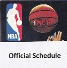 1970's to 2000's NBA Basketball Schedule  U-Pick From List  Teams