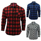 NEW Mens Classic Plaids Casual Shirts Male Slim Fit Long Sleeve Dress Shirt Tops
