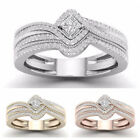 Gorgeous Rings for Women 925 Silver,Rose Gold,Gold White Sapphire Ring Size 6-10 image
