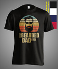 Best Bearded Dad Ever Vintage Fathers Day Funny Gift T-Shirt Papa Daddy Father