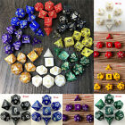7 Dice Set TRPG For DND Multi Sided D4-D20 Acrylic Transparent 6 Colors RandYJUS
