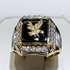 Fashion Eagle Rings For Men 18k Yellow Gold Plated Jewelry Gift Size 7-13