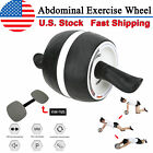 Home Ab Exercise Roller Wheel Abdominal Core Training Gym Fitness Workout w/ Pad image