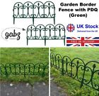 Gabz Collapsible Garden/lawn Border Edging Ornate Plastic Picket Fence - Green