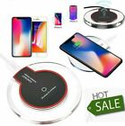 Wireless Qi Charger Charging Pad For Samsung Appl iPhone Xs Xr S8 S9 S10 & more
