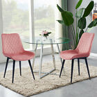 2 4 6 Retro Slope Dining Chairs Distressed Faux Leather Black Legs Kitchen Room