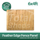 ***PACK OF 5***  6ft x 4ft FEATHEREDGE CLOSEBOARD PANELS