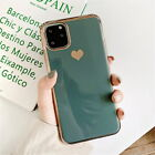Luxury Electroplated Love Heart Silicone Case For iPhone 11 Pro Max XS X 7 8Plus