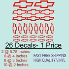 MEGA Pack of 26 Chevy Bow Tie Decals Logo/ Emblems Car Truck Laptop Door Dash