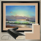 """40Wx32H"""": SAILING WITH THE BREEZE by P LOMABARDI - DOUBLE MATTE, GLASS and FRAME"""