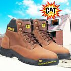 Caterpillar Safety Boots Steel Toecap Work Boots Leather S3 Median NEW from CAT