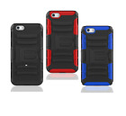 For Iphone Se2020 / Iphone 6 7 8 Phone Case Belt Clip+tempered Glass Protector