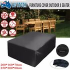 Patio Outdoor Furniture Cover Garden Setting Seat Rectangular Rain Sun Protector