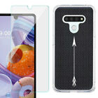 Slim Fit Phone Case for LG Stylo 6, w/ Tempered Glass Screen Protector - A