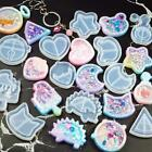 Key Chain Charm Mold Kawaii Strawberry Shaker Silicone Epoxy Resin Shaker Diy