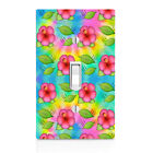 Tie Dye Hibiscus Switch Cover, Home Decor, Night Light, Cabinet knob, triple