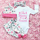 FixedPrice4pcs newborn infant baby girl outfits clothes set romper bodysuit+pants leggings