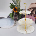 3 Tiers Fruit Dish Coaster Resin Casting Silicone Mold Stand Agate Epoxy DIY