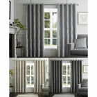 Curtina Chateau Damask Embossed Eyelet Lined Curtains