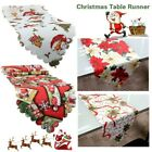 Christmas Santa Claus Flower Fruit Tapestry Table Runner Tablecloths Decorative
