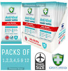 GREEN SHIELD ANTI VIRAL / BAC HAND BODY FACE TRAVEL POCKET SIZE HAND WASH WIPES