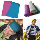 2 pcs Ice Cold Instant Cooling Towel for Sports Gym Yoga Fitness Workout Jogging image