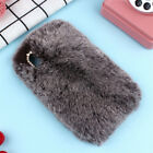 Soft Fluffy Furry Plush Protective Case Cover Skin Shell Back for Samsung Phones