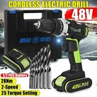 Electric Drill Screwdriver Wireless Power Rechargeable 13000mAh Li-ion Battery