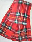 NEW Victoria Secret Pink RED PLAID COZY SOFT FLEECE PLUSH BLANKET THROW STADIUM