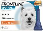 FRONTLINE Spot On Flea & Tick Treatment for Small Dogs 2-10 kg, 3 or 6 Pipette