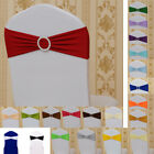 Kyпить Buckle Bow Banquet Wedding Party Chair Sash Spandex Ties Cover Band Decoration на еВаy.соm
