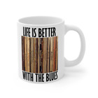 Blues Vinyl Record Collection Coffee Mug White 11oz Life Is Better With The Blue