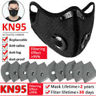 Face Mask Mouth Covers Reusable With Activated Carbon Filter Pad Breathing Valve
