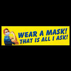 Wear a Mask That is All I Ask Rosie the Riveter STICKER or FLEXIBLE MAGNET mask
