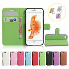 Magnetic Leather Card Slot Wallet Stand Case Cover For Iphone Se 5 6 7 8 Plus X