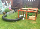 """Rabbit Guinea Pig Play Tunnel Pipe Flexible 6"""" Connector Plastic Hutch Run Food"""