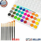 36 Color Fundamental Watercolor Pan Artist Set and/or 10 Paint Brushes Draw