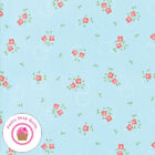Moda SUGARCREEK 29072 18 Blue Coral Small Floral COREY YODER Quilt Fabric