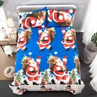Father Christmas Duvet Cover Bedding Set with Pillow Cases Single Double King