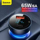 Baseus USB Type-C Car Charger Phone Laptop QC 4.0 Fast Charge Adapter Universal