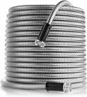 Stainless Steel Garden Hose Water Pipe 25/50/75/100ft Flexible Usa
