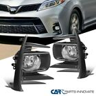 For 18-19 Toyota Sienna Clear Fog Lights Driving Bumper Lamps Kits+Switch Pair $66.78 CAD on eBay