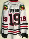 Reebok Premier NHL Jersey Chicago Blackhawks Jonathan Toews White sz M $28.0 USD on eBay