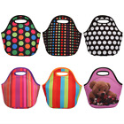 Thermal Insulated Neoprene Tote Lunch Bag Handbag for Work Picnic Camping School